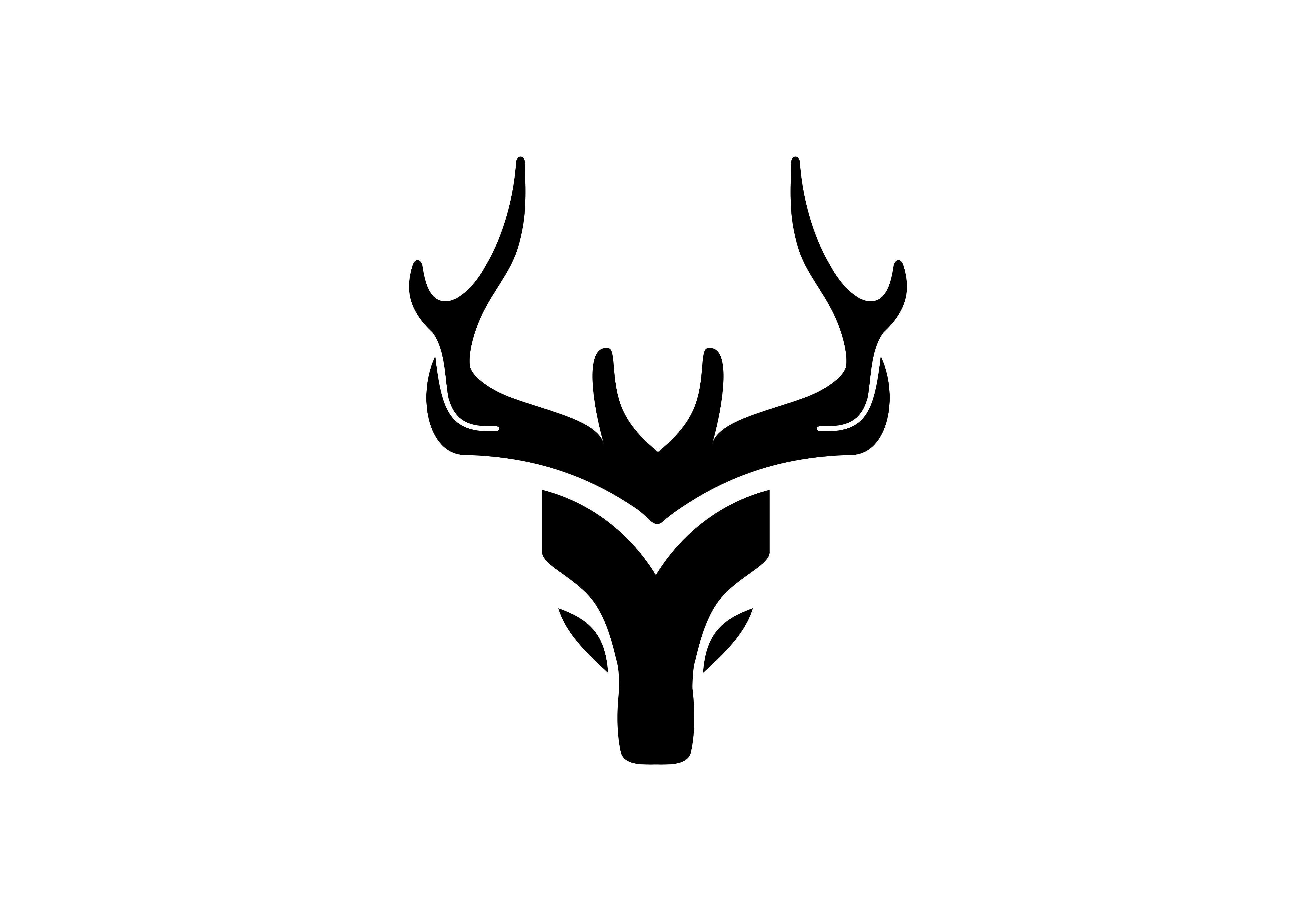 Download Free Deer Animal Logo Graphic By Deemka Studio Creative Fabrica for Cricut Explore, Silhouette and other cutting machines.