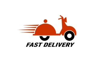 Download Free Delivery Food Logo Grafik Von Deemka Studio Creative Fabrica for Cricut Explore, Silhouette and other cutting machines.