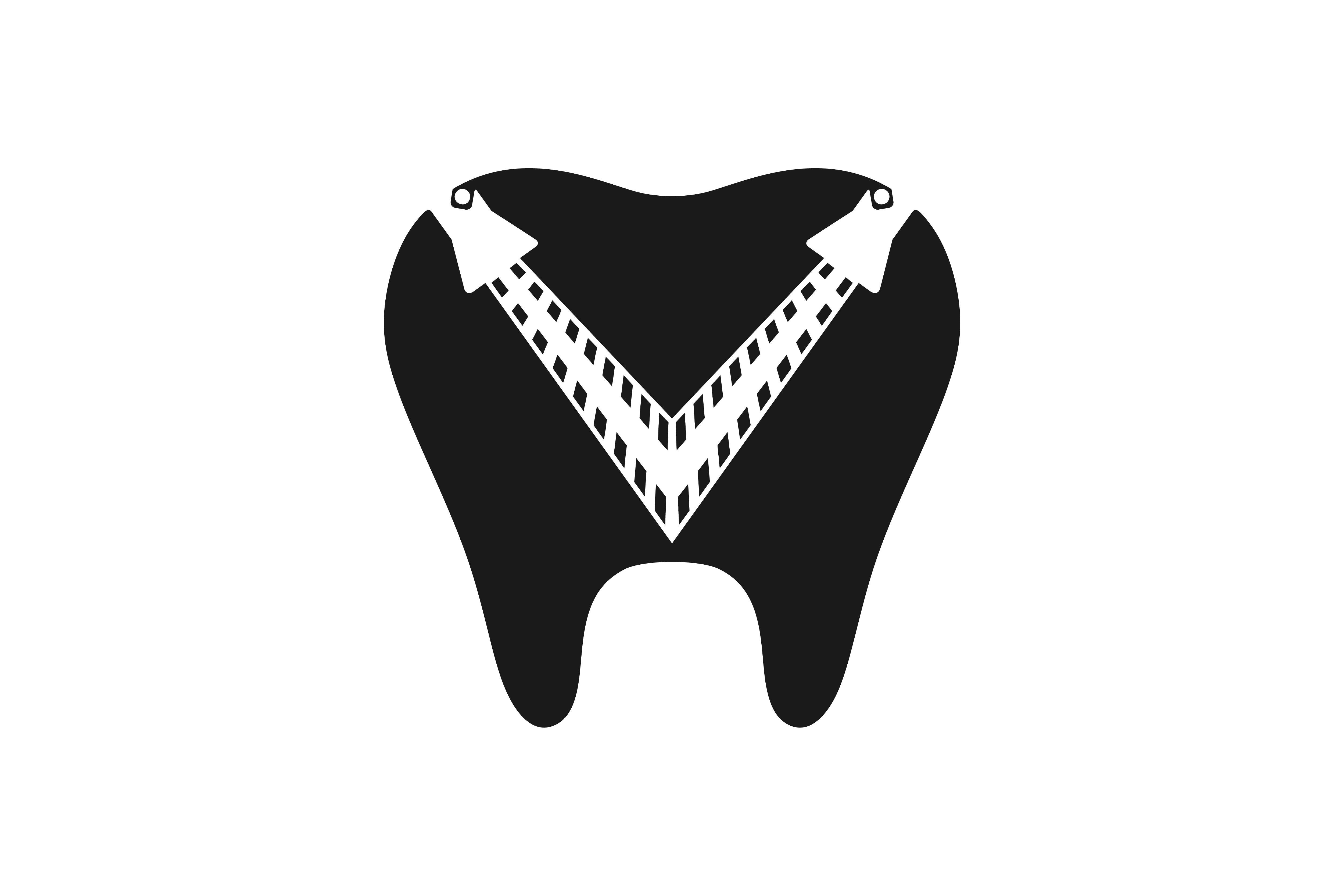 Download Free Dental Logo Design Graphic By Yahyaanasatokillah Creative Fabrica for Cricut Explore, Silhouette and other cutting machines.