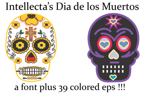 Print on Demand: Dia De Los Muertos Dingbats Font By Intellecta Design - Image 4