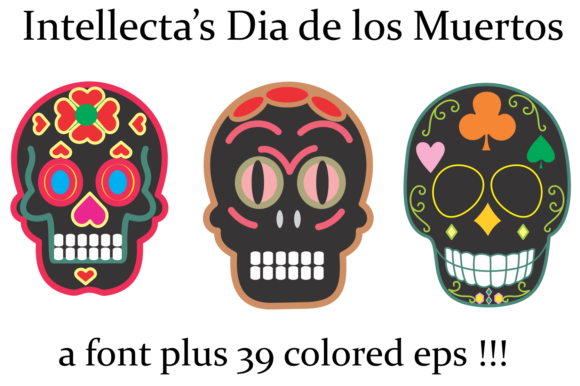 Print on Demand: Dia De Los Muertos Dingbats Font By Intellecta Design - Image 5