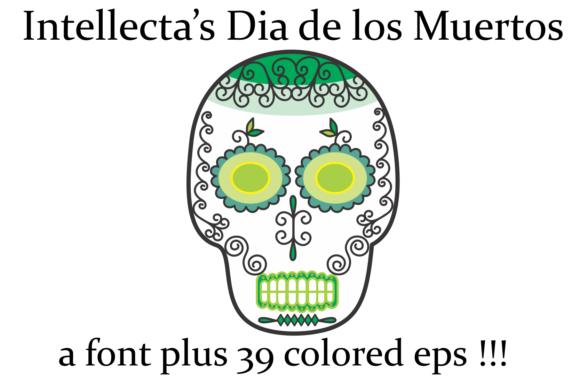 Print on Demand: Dia De Los Muertos Dingbats Font By Intellecta Design - Image 6