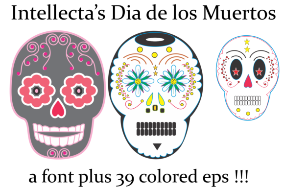 Print on Demand: Dia De Los Muertos Dingbats Font By Intellecta Design - Image 1