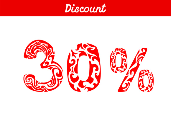 Print on Demand: Discount Number Graphic Illustrations By Arief Sapta Adjie