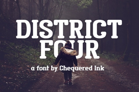 Print on Demand: District Four Serif Font By Chequered Ink - Image 1