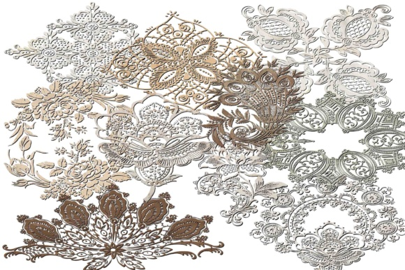 Print on Demand: Doily Clipart Graphic Illustrations By retrowalldecor