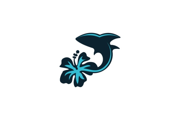 Download Free Dolphin And Flower Logo Graphic By Yahyaanasatokillah Creative for Cricut Explore, Silhouette and other cutting machines.