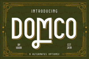 Domco Font By mrkhoir012