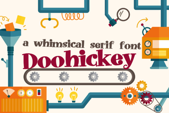 Print on Demand: Doohickey Serif Font By Illustration Ink