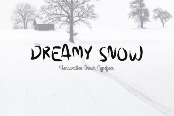 Print on Demand: Dreamy Snow Script & Handwritten Font By Shattered Notion