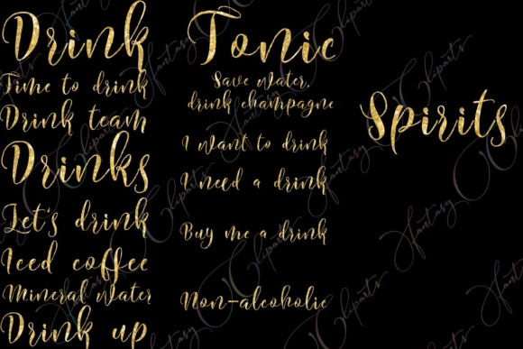 Drink Word Art Clipart Graphic By fantasycliparts Image 5