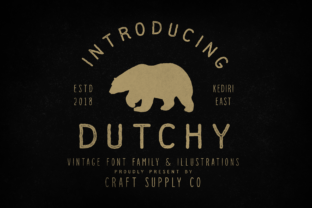 Print on Demand: Dutchy Decorative Font By craftsupplyco