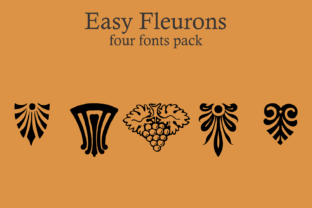 Easy Fleurons Font By Intellecta Design