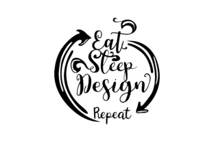 Download Free Eat Sleep Design Repeat Grafico Por Thelucky Creative Fabrica for Cricut Explore, Silhouette and other cutting machines.