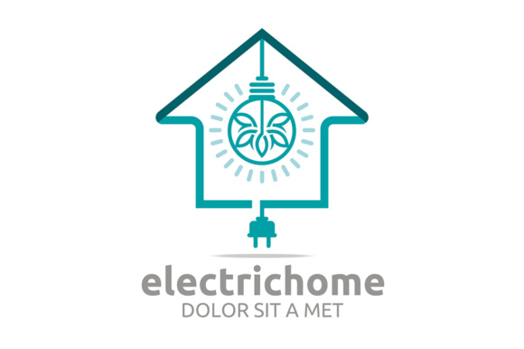 Electric Home Logo Graphic Logos By Acongraphic