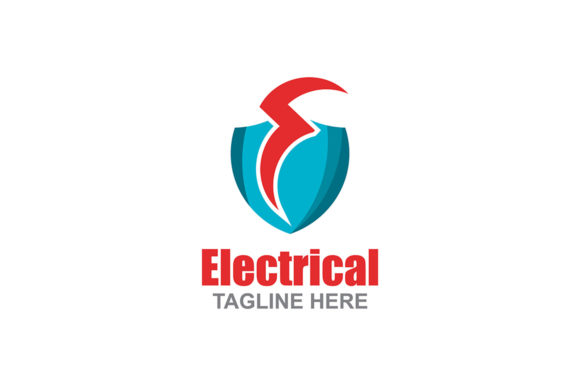 Download Free Electrical Logo Graphic By Thehero Creative Fabrica for Cricut Explore, Silhouette and other cutting machines.