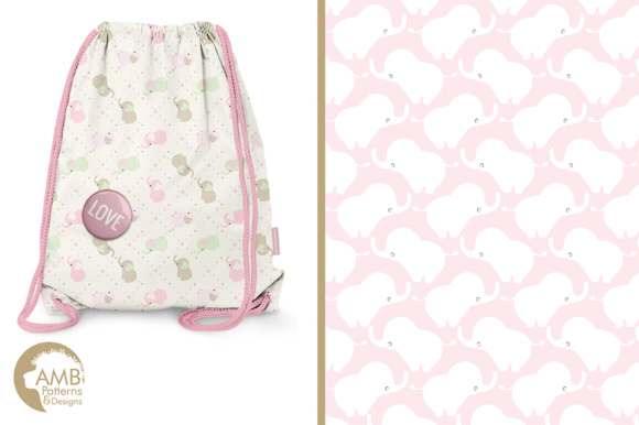 Elephant Nursery Papers Graphic Patterns By AMBillustrations - Image 5