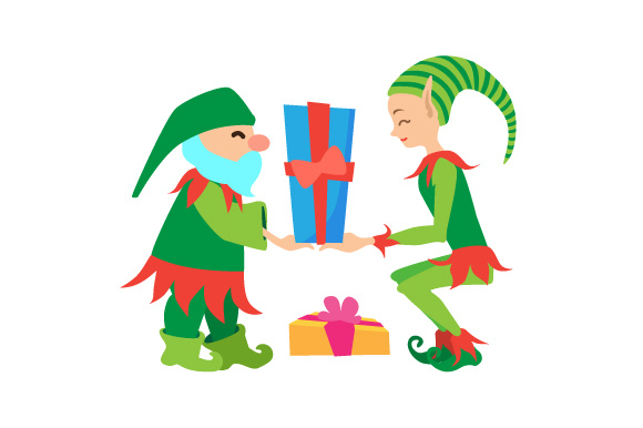Download Free Elfs With Presents Svg Cut File By Creative Fabrica Crafts for Cricut Explore, Silhouette and other cutting machines.