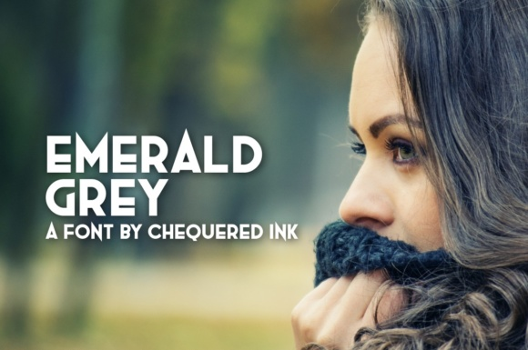 Print on Demand: Emerald Grey Display Font By Chequered Ink