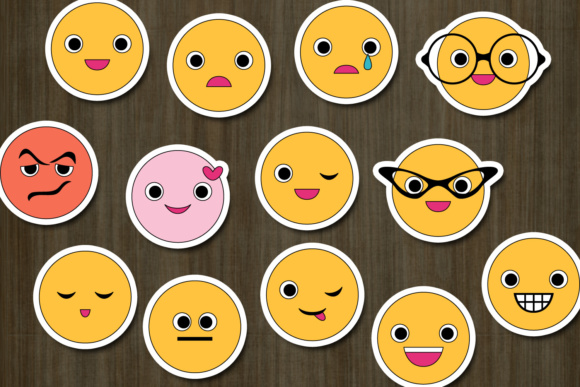Download Free Emoji Emoticon Graphic By Darrakadisha Creative Fabrica for Cricut Explore, Silhouette and other cutting machines.