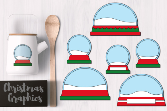 Print on Demand: Empty Christmas Snow Globes Graphic Illustrations By Revidevi