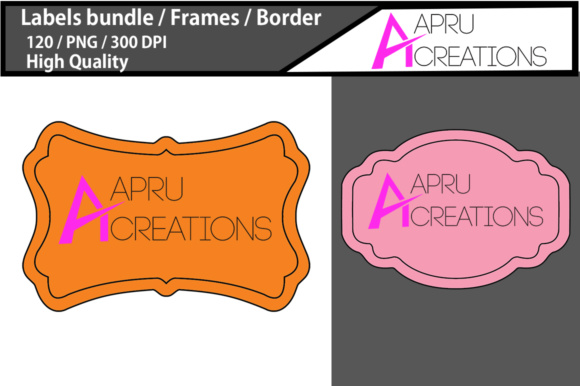 Print on Demand: Empty Labels and Frames / 120 Blank Blank Labels Bundle Graphic Crafts By aparnastjp - Image 2