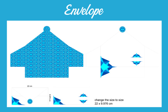 Print on Demand: Envelope Format Blue Graphic Crafts By Arief Sapta Adjie - Image 1