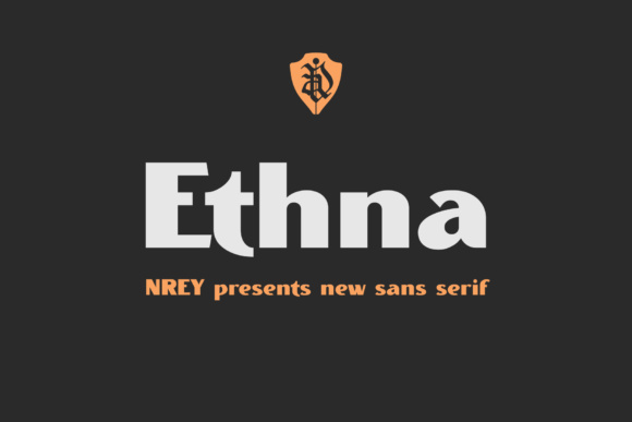 Print on Demand: Ethna Sans Serif Font By NREY - Image 1