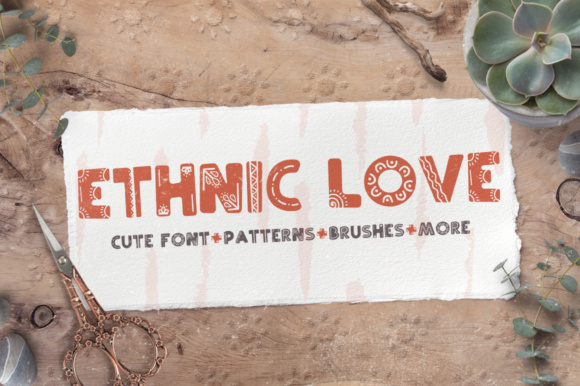 Print on Demand: Ethnic Love Display Font By Latin Vibes