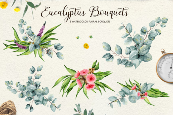 Eucalyptus Collection + Letter Graphic By tregubova.jul Image 3