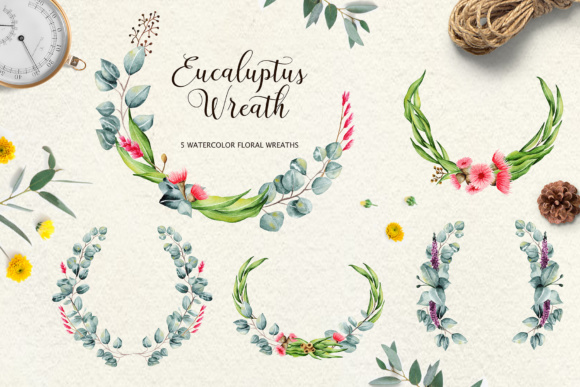 Eucalyptus Collection + Letter Graphic By tregubova.jul Image 5