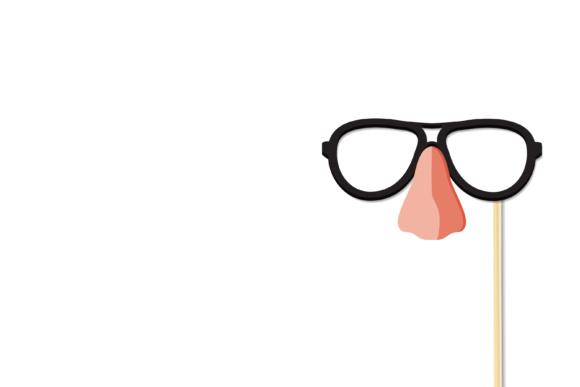 Print on Demand: Eyeglasses and Nose Graphic Logos By sabavector