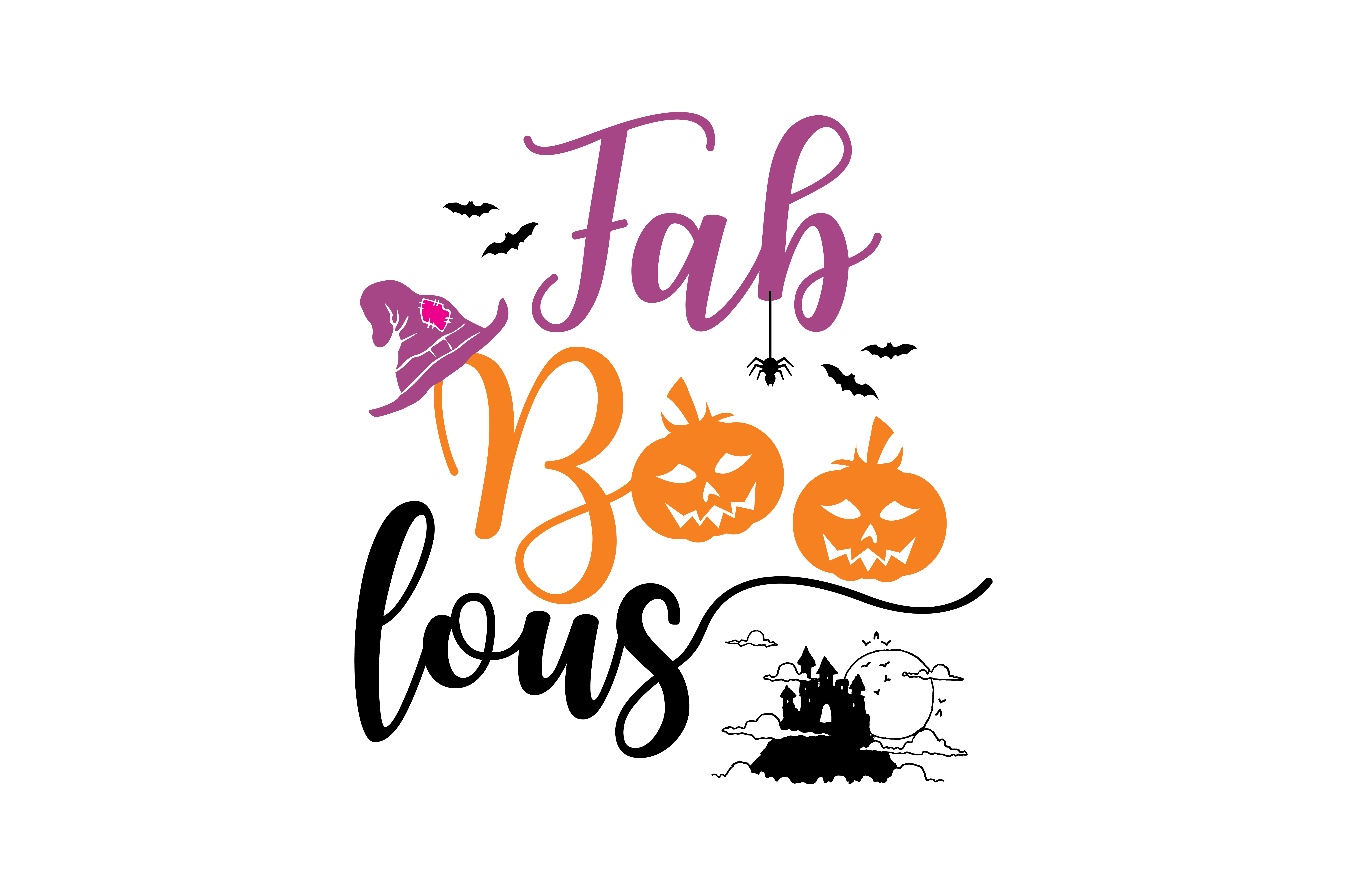 Download Free Fab Boo Lous Graphic By Thelucky Creative Fabrica for Cricut Explore, Silhouette and other cutting machines.