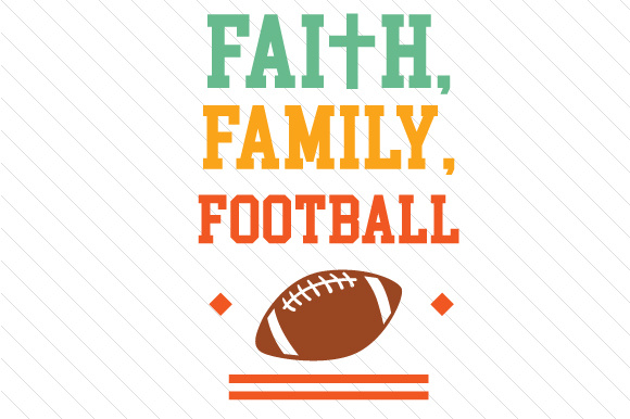 Download Free Faith Family Football Svg Cut File By Creative Fabrica Crafts for Cricut Explore, Silhouette and other cutting machines.