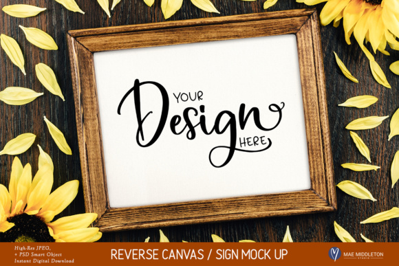Fall / Autumn / Thanksgiving Sunflower Sign Mock Up, Styled Graphic Product Mockups By maemiddletonstudio