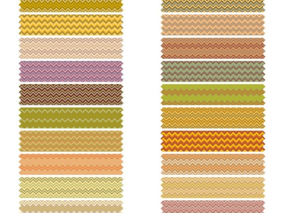 Fall Chevron Digital Washi Tape Graphic Objects By GreenLightIdeas - Image 1