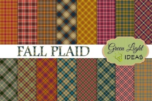 Fall Plaid Digital Papers Graphic By GreenLightIdeas