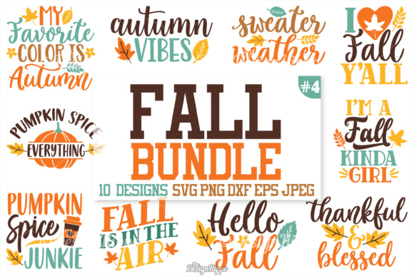 Fall Quotes SVG Bundle (Graphic) by thedesignhippo ...