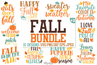 Fall Sayings SVG Bundle Graphic By thedesignhippo