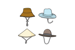 Download Free Farmer Hat Vector Illustration Hat Design Graphic By Sabavector for Cricut Explore, Silhouette and other cutting machines.