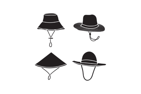 Download Free Farmer Hat Vector Illustration Silhouette Hat Design Graphic By for Cricut Explore, Silhouette and other cutting machines.