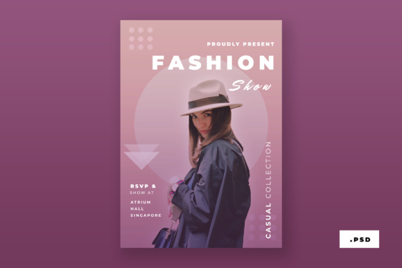 Fashion Poster Graphic Print Templates By TMint
