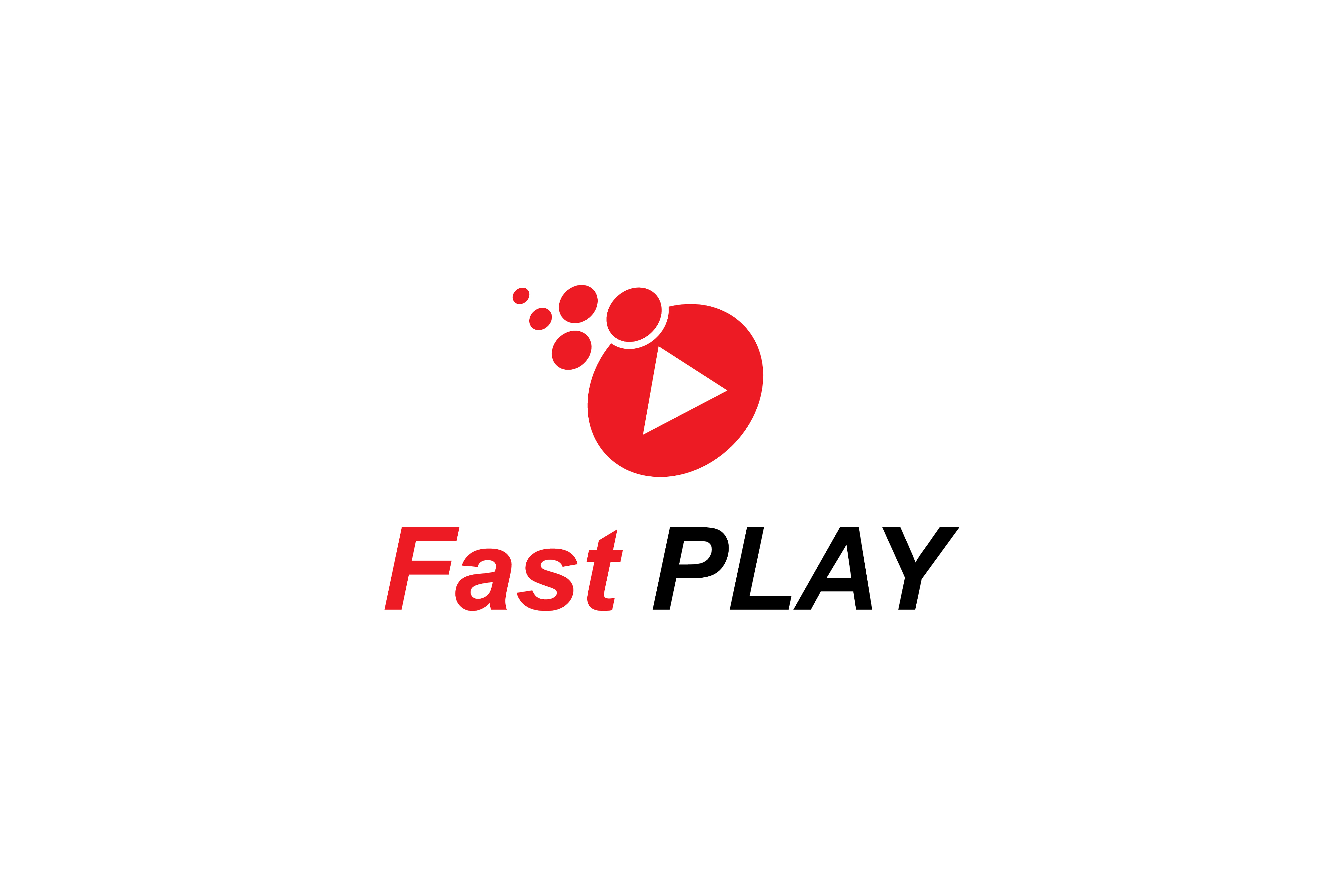 Download Free Fast Play Logo Design Graphic By Sabavector Creative Fabrica for Cricut Explore, Silhouette and other cutting machines.