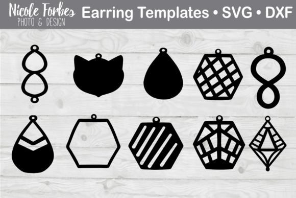 Faux Leather Earring Svg Graphic By Nicole Forbes Designs
