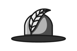 Download Free Feather And Woman Hat Beauty Logo Graphic By Yahyaanasatokillah for Cricut Explore, Silhouette and other cutting machines.
