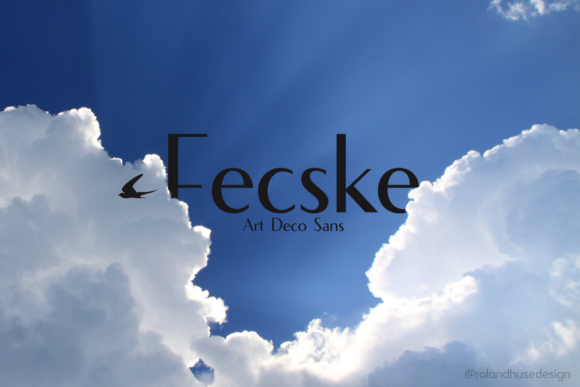 Print on Demand: Fecske Sans Serif Font By Roland Hüse Design