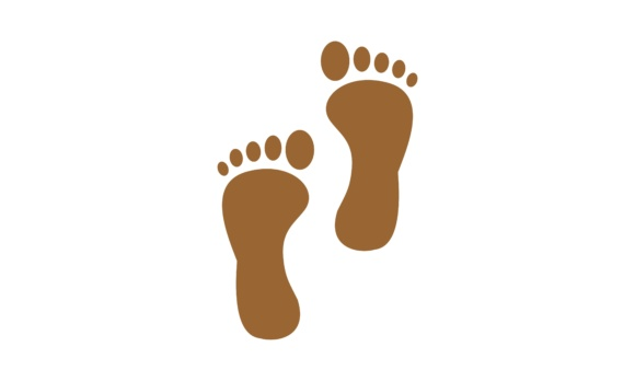 Download Free Feet Foot Logo Graphic By Deemka Studio Creative Fabrica for Cricut Explore, Silhouette and other cutting machines.