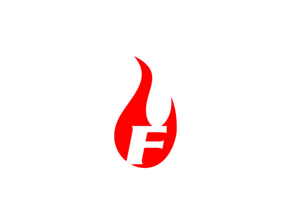 fire logo with letter f initial logo template graphics