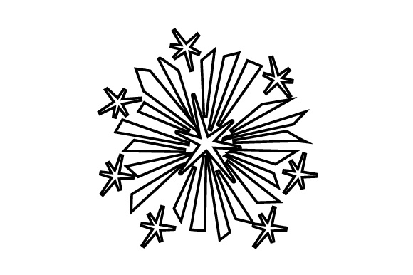 Fireworks New Year's Craft Cut File By Creative Fabrica Crafts - Image 2