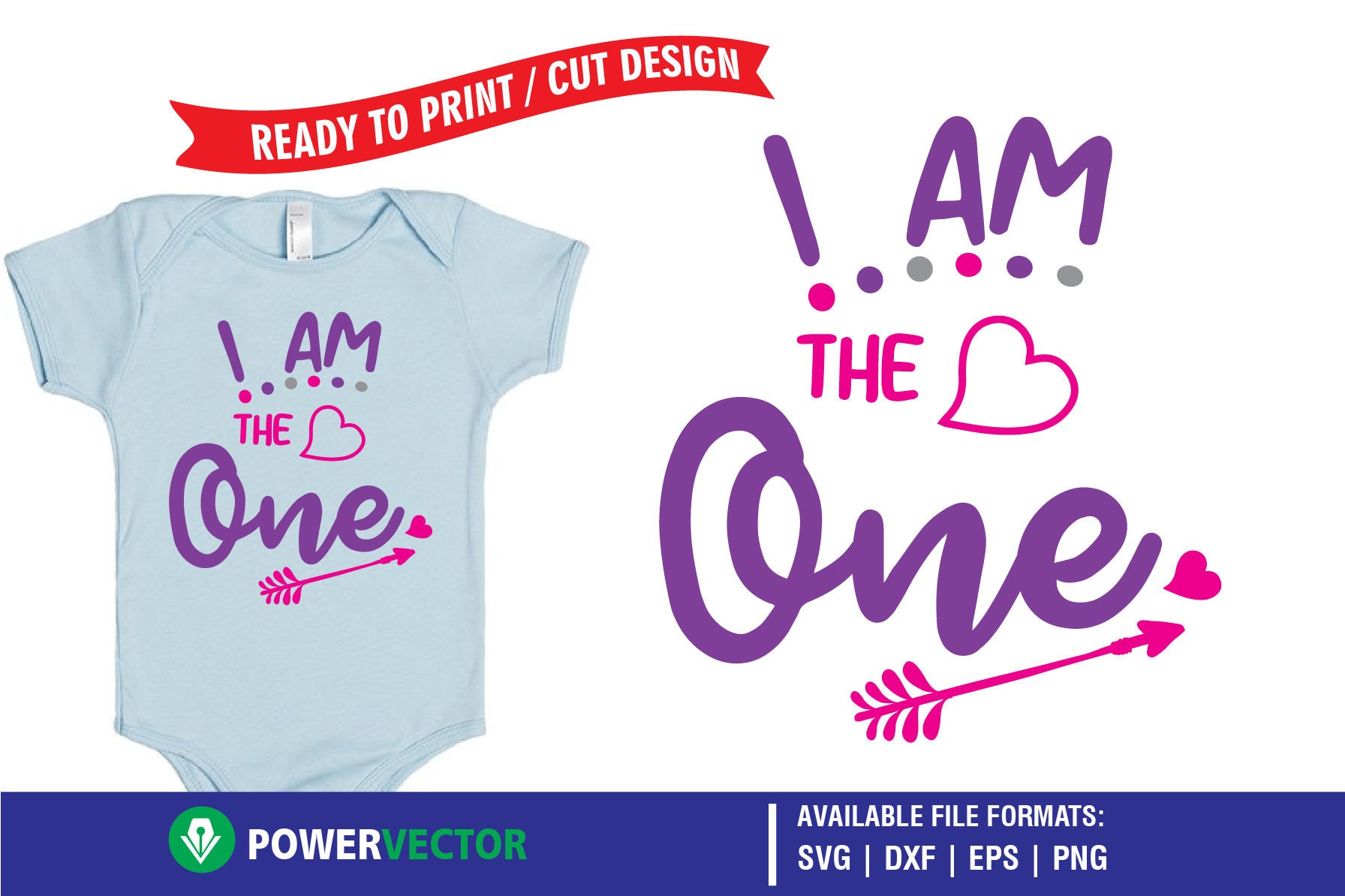 Download Free First Birthday I Am The One Print Graphic By Powervector for Cricut Explore, Silhouette and other cutting machines.